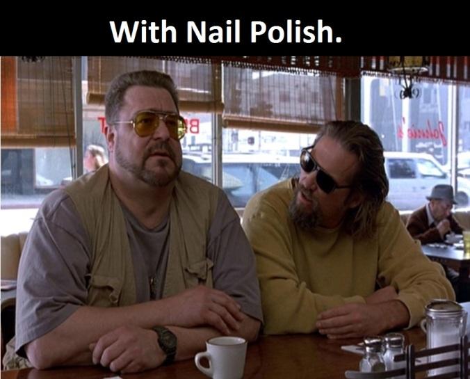 With Nail Polish